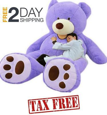79 200cm Purple Giant Teddy Bear Cover Huge Plush Toy Semi-Finished No Filler