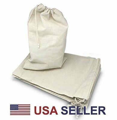Variety of Natural Cotton Muslin Drawstring Bags For Craft Gift Soap Herbs