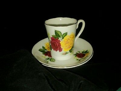 Vintage Royal Grafton England Fine Bone China Teacup - Saucer