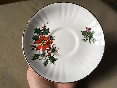 Royal Grafton Fine Bone China Christmas Saucer Discontinued England