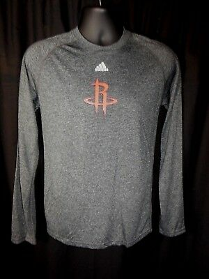 Houston Rockets Mens Adidas Long Sleeve Climalite Shirt