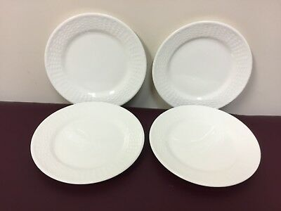 NEW Set of 4 Wedgwood NANTUCKET BASKET 8-0 Salad Plate Plates - with tags