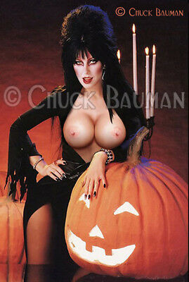 Fridge Magnet Elvira BIG PUMPKINS nude girl macabre horror pin-up girl art R