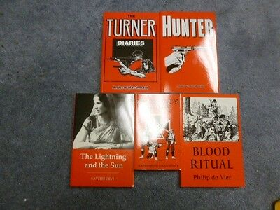The Turner Diaries Full Five-Book Companion Set