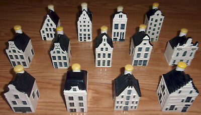 KLM BOLS Blue Delfts Miniature Houses year at base all sealed Delft House