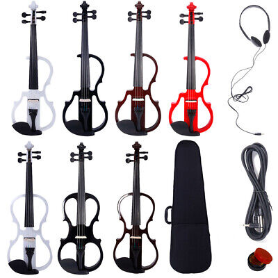 New 44 Size 5 Style Electric Silent Violin Fiddle Set