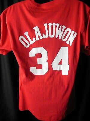 Houston Rockets Hakeem Olajuwon  34 Mens Mitchell - Ness Tee Shirt