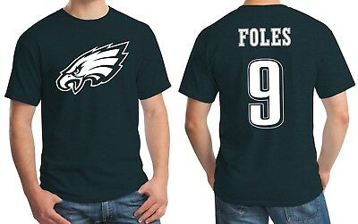 New Philadelphia Eagles Nick Foles 9 Jersey Logo T-Shirt Mens Small - 3XL Green