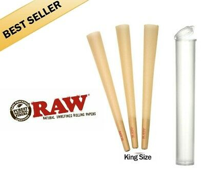 50 Pack - RAW Classic Cones King Size Authentic Pre-Rolled Cones w Filter
