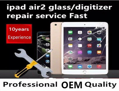 Apple iPad Air 2 LCD Digitizer Glass Screen Replacement Repair Service Fast