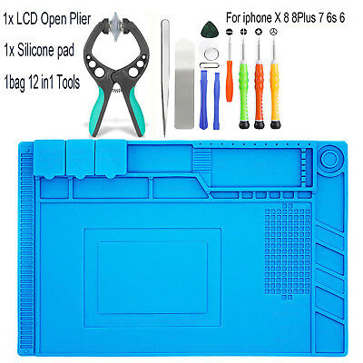 Mobile Phone Screen Opening Tools Screwdriver Silicone Pad For iPhone 6 7 8 Plus