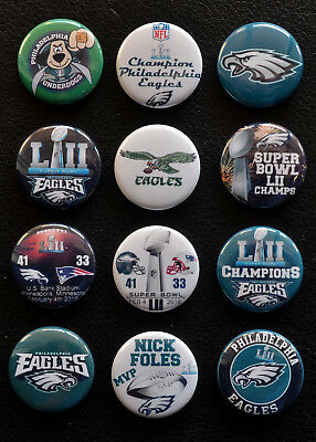 Philadelphia Eagles Super Bowl LII Champions - Button Set   Free Shipping