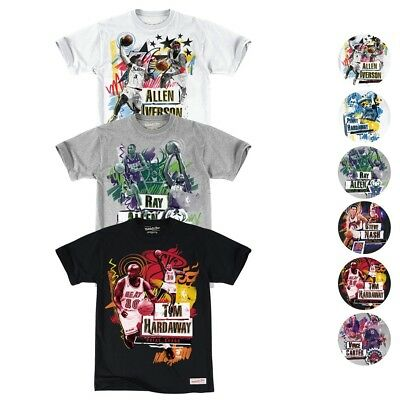 NBA Mitchell - Ness Vintage Player Tradition Fit T-Shirt Collection Mens
