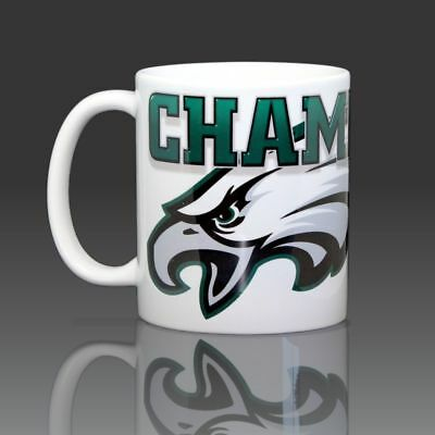 Philadelphia Eagles Super Bowl 52 Champions Coffee Mug Ceramic 11oz