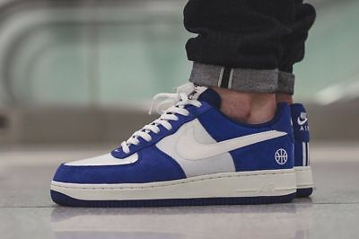 Mens Nike Air Force 1 Low Sneakers New March Madness Duke Blue 488298-438