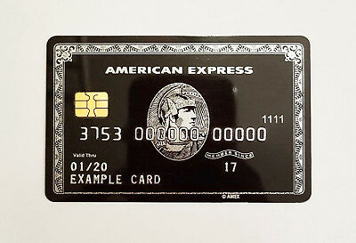 American Express Amex Black Card Centurion Replica with Smart Chip