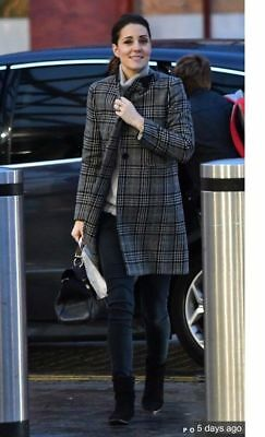 ZARA KATE MIDDLETON WOOL CHECKED COAT SIZE L SOLD OUT