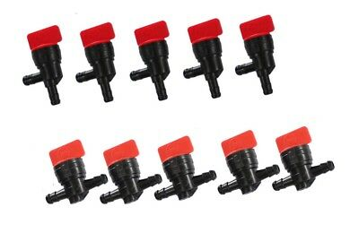 14 InLine 90 Degree Straight Fuel Gas Shut Off Cut off Valve Motorcycle 10 pc