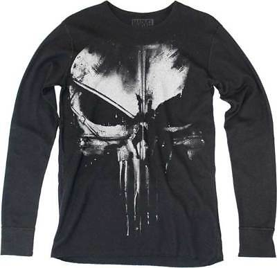 The Punisher Frank Castle Skull No Sweat Marvel Comics Long Sleeve Authentic