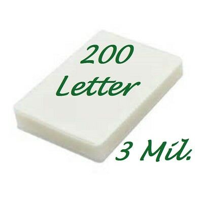 200 Letter Laminating Laminator Pouches Sheets 9 x 11-12 3 Mil Scotch Quality