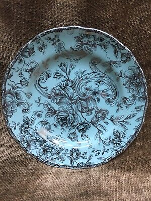 Multiple Available New 222 Fifth Hawthorne Salad Plate 8-5 Silver - Turquoise