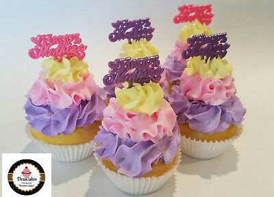 Mothers Day Party Favors Cupcakes Set of 5- Faux Cupcake fake food decoration