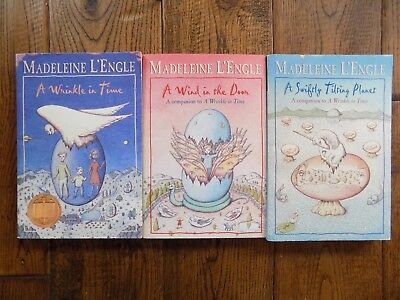 Lot 3 of The Time Quartet A Wrinkle in Time Series Books by Madeleine LEngle