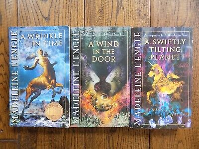 Lot of 3 Paperback Books by Madeleine LEngle A Wrinkle in Time Series