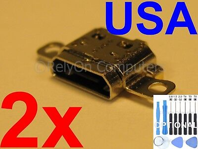 2x Micro USB Charging Port Sync For Amazon Kindle Fire 7 SR043KL 2017 7th Tablet