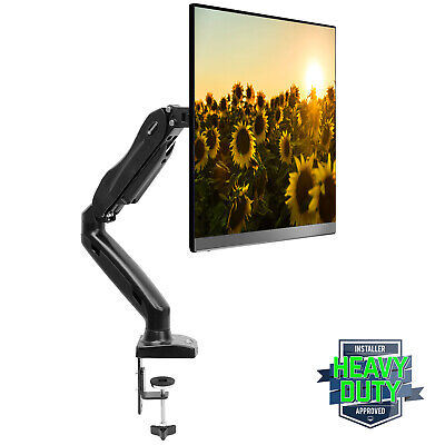 Full Motion LCD Monitor Arm Gas Spring Desk Mount for Screens up to 27