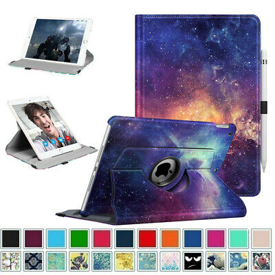For New iPad 6th Gen 9-7 inch 2018  5th Gen 2017 360 Rotating Case Cover Stand