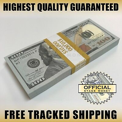 10000 - Top Quality Stack For Film Movies TV Videos Copy Fake Prop Money
