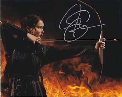Jennifer Lawrence Hunger Games signed autographed 8x10 photograph with COA