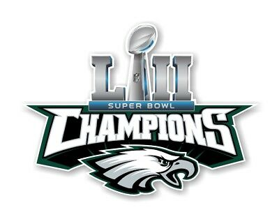 Philadelphia Eagles Champions Super Bowl 52 Decal  Sticker Die cut
