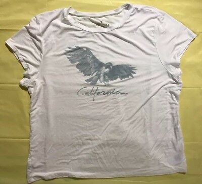 AMERICAN EAGLE OUTFITTERS Soft - Sexy White California T-Shirt Womens Size XXL