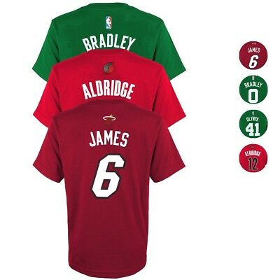 NBA Official Player Name - Number Jersey T-Shirt Collection Youth Size S-XL