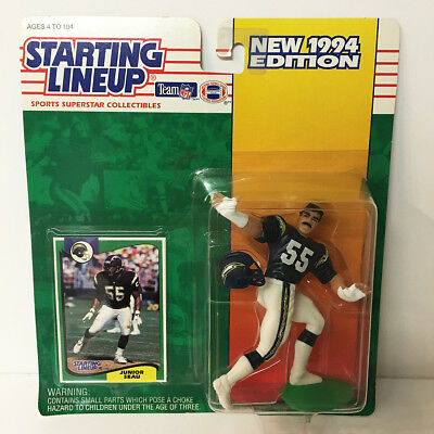 1994 Junior Seau San Diego Chargers Starting Lineup Figure NFL Kenner NIP NEW