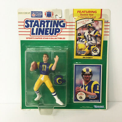 1990 Jim Everett Rams Starting Lineup Figure NFL Kenner NIP