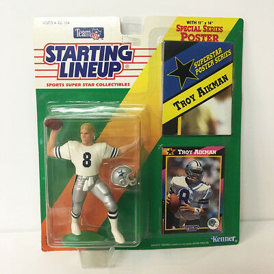 1992 Troy Aikman Starting Lineup Figure NFL Dallas Cowboys Kenner NIP Unopened