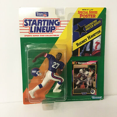 1992 Rodney Hampton Starting Lineup Figure NFL Giants Kenner NIP Unopened NEW