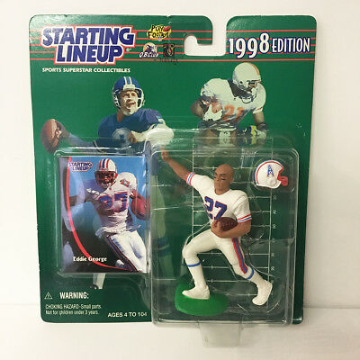 1998 Eddie George Starting Lineup Figure NFL Oilers Kenner NIP Unopened