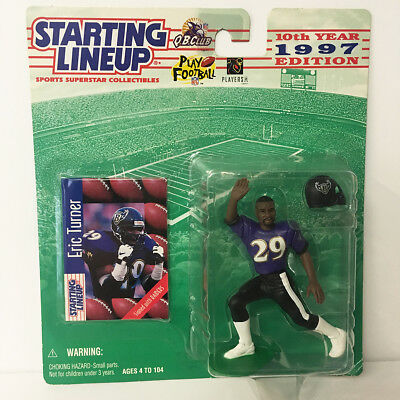 1997 Eric Turner Starting Lineup Figure NFL Raiders Ravens Kenner NIP NEW