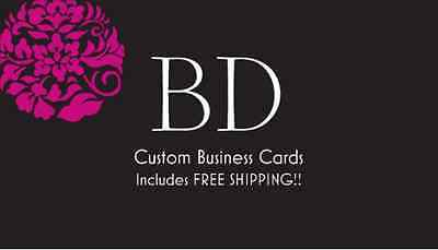 500 CUSTOM FULL COLOR BUSINESS CARDS - FREE DESIGN FREE SHIPPING