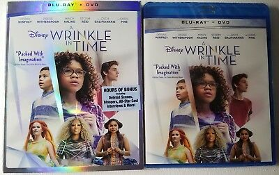 NEW DISNEY A WRINKLE IN TIME BLU RAY - DVD 2 DISC SET - SLIPCOVER SLEEVE
