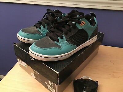 Supra Cruizer turquoise black yellow skate shoes sz 9-5