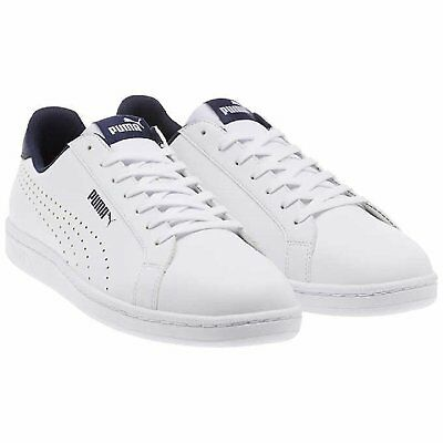 NEW PUMA Mens White Smash Perf C Athletic Leather Sneakers Tennis Shoes 366245