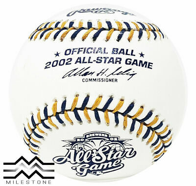 Rawlings 2002 All Star Official MLB Game Baseball Milwaukee Brewers Boxed
