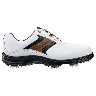 NEW Mens FootJoy Contour 54130 White  Taupe Closeout Golf Shoes