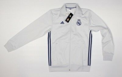 ADIDAS Real Madrid CF Official White Track Jacket NWT 100 Soccer Football