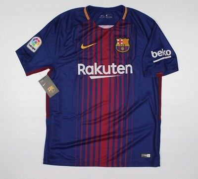 NIKE FC BARCELONA 2017 AUTHENTIC JERSEY SZ L NWT Soccer World Cup 1F2